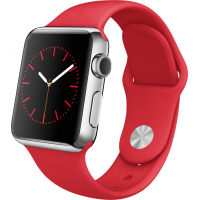 Apple Watch 42mm S.Steel Sport Band Red Product MLLE2