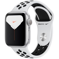 Apple Watch Series 5 Nike 40mm Silver Sport Band MX3R2